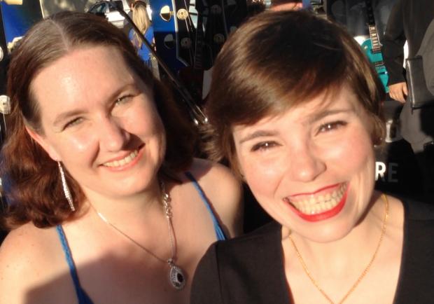 "Jenni Powell and Amy Dallen of ""Talkin' Comics Weekly"""