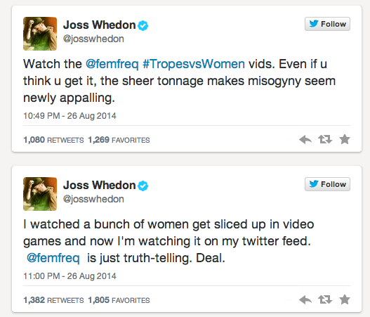 Image result for Joss Whedon feminist frequency