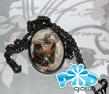 A sample pendant featuring Batman